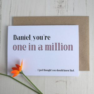 You're… Personalised Greetings Card - blank cards