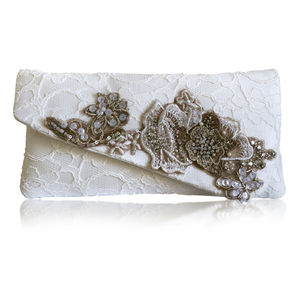 Alexandra Lace Clutch - wedding fashion