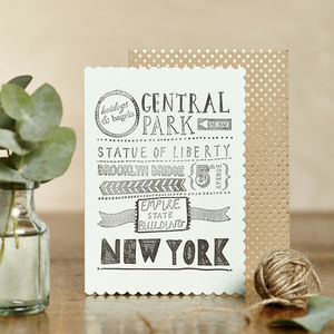 Luxe New York Card - all purpose cards, postcards & notelets