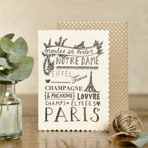 Luxe Paris Card - all purpose cards