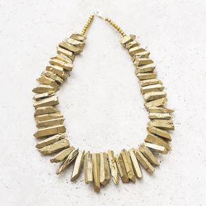 Voleta Druzy Statement Necklace - statement necklaces