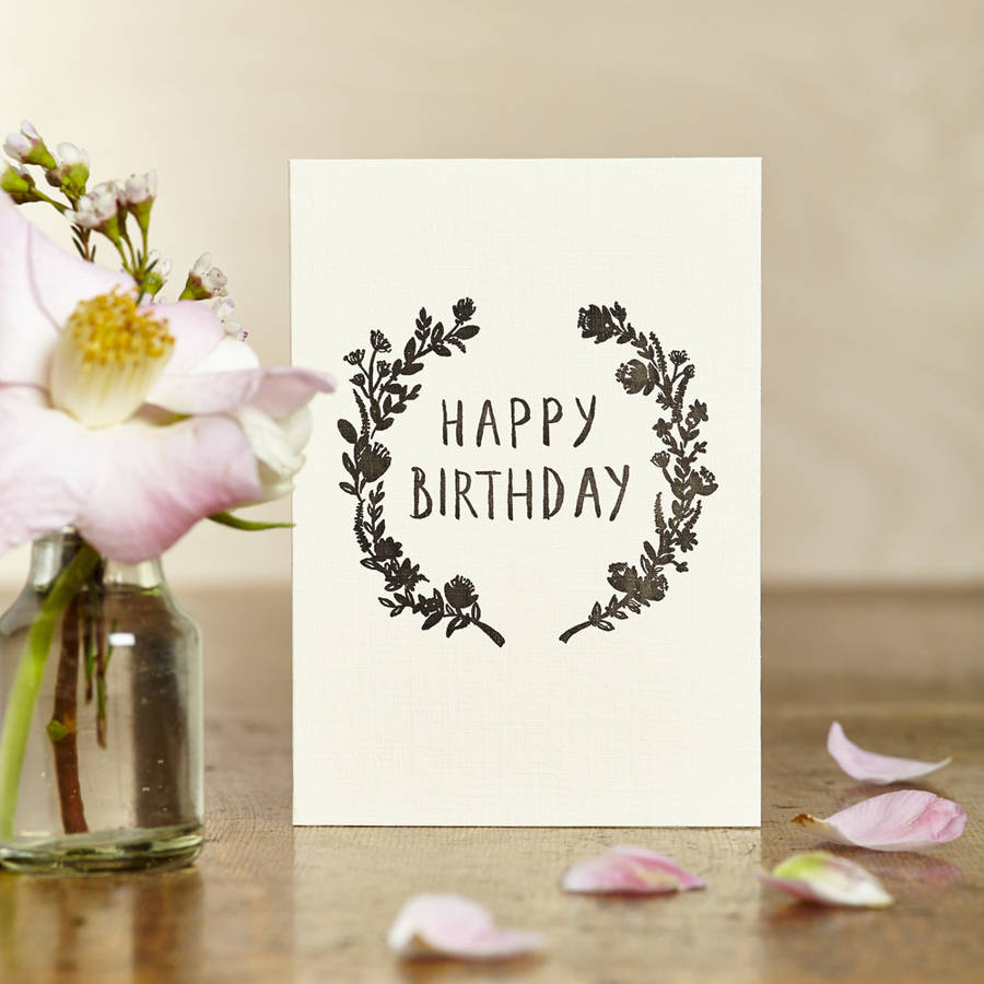 Floral Birthday Card By Katie Leamon