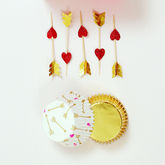 Hearts And Arrows Cupcake Kit - valentine's day