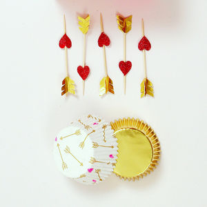 Hearts And Arrows Cupcake Kit - kitchen