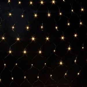 80 LED Battery Bright White Net String Lights - christmas lighting