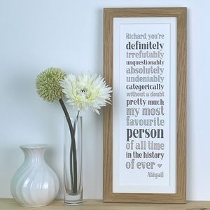 My Most Favourite Person, Personalised Print - posters & prints