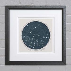 Personalised Birthday Constellation Print - 21st birthday gifts