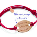 Personalised Coordinate Oval Plate Bracelet