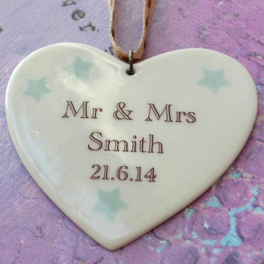 personalised wedding gift by carys boyle ceramics notonthehighstreet ...