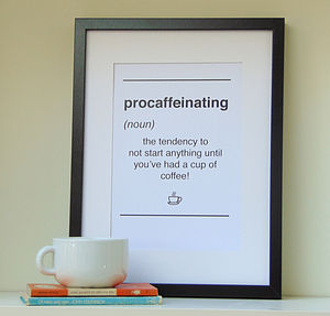 Dictionary Style Coffee Quote Print - posters & prints