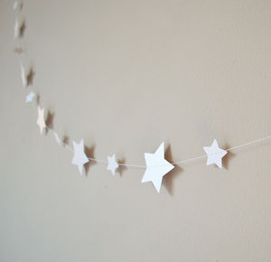 Shimmer White Starlight Stars Paper Garland - bunting & garlands