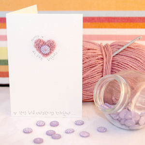 Crochet Heart 'Mums Are Like Buttons' Card