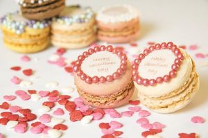 Gift Box Of 12 Valentines Day French Macarons