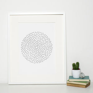 Reduced Grey Modern Art Print