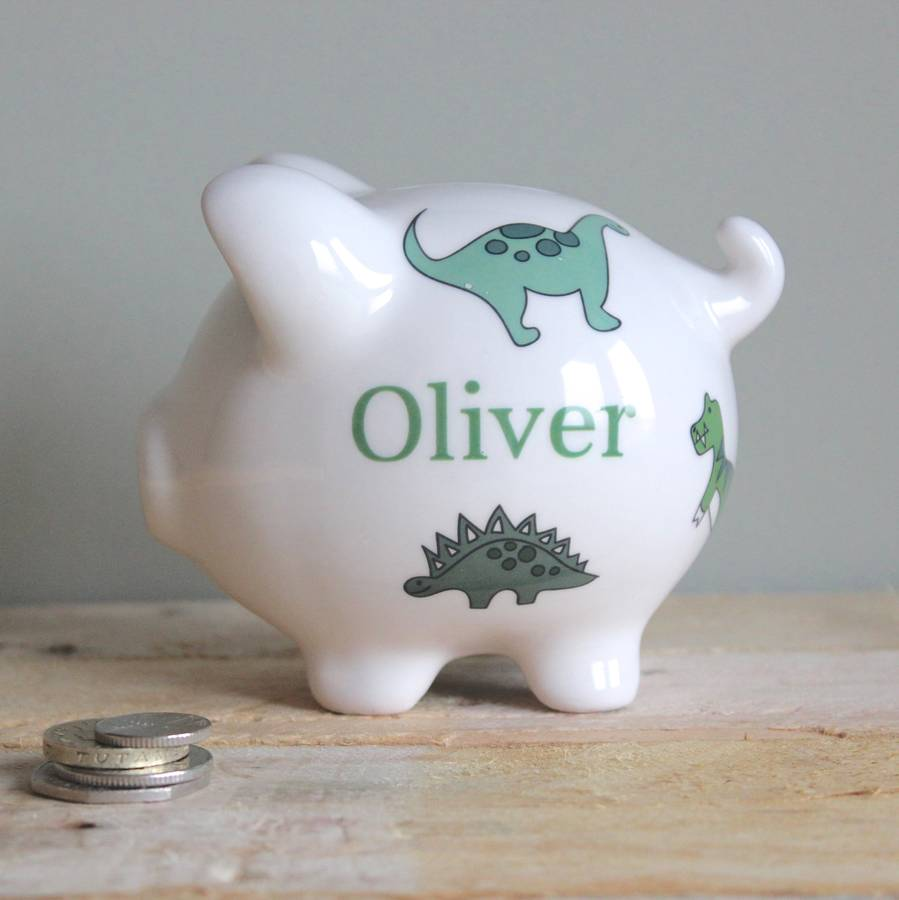 Personalised Piggy Bank For Boys By Sparkle Ceramics