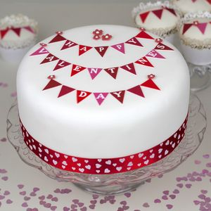Personalised Valentine's Bunting Cake Kit - kitchen accessories