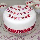 Personalised Valentine's Bunting Cake Kit