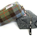 Thumb gent s harris tweed toilet bag