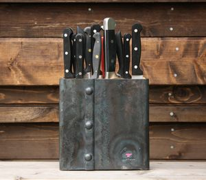 Riveted Universal Knife Block - kitchen