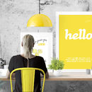 HELLO - Typographic Canvas Or Poster