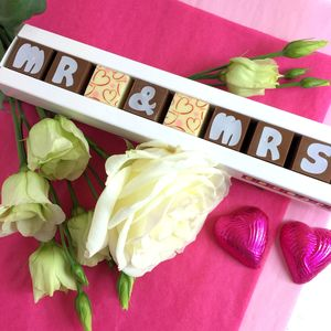 Personalised Chocolates For Wedding Favours - sweet treats