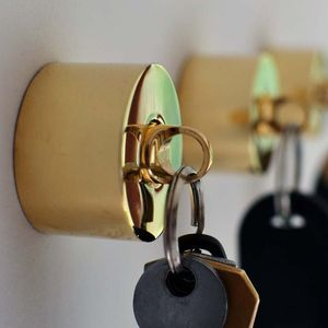Pure Brass Key Holder And Fob - home accessories