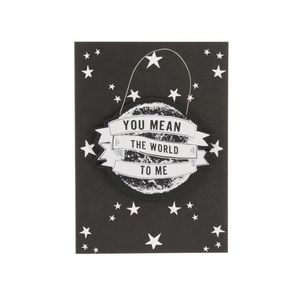 'You Mean The World To Me' Card With Hanger