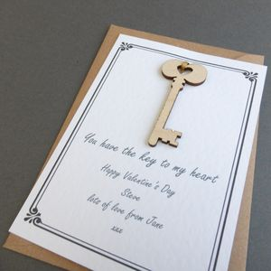 Personalised Key To My Heart Love Token