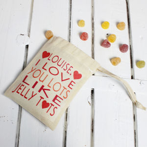 Personalised 'I Love You Lots' Sweets - gifts to eat & drink