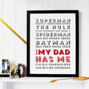 Super Duper father personalised print