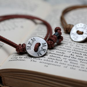 Personalised Men's Organic Button Braided Bracelet