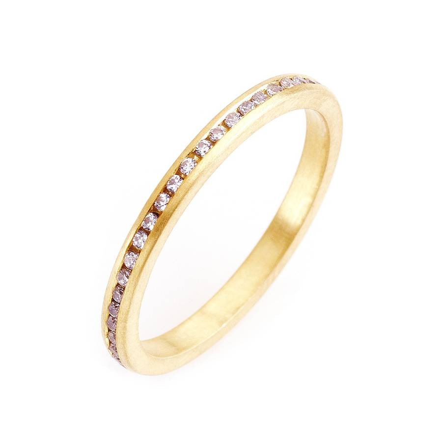 band nash yellow product gold hand lilia the with wedding on in bands diamonds halo hammered ring thin slim