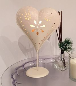 Florence Standing Heart Tealight Candle Holder - lighting