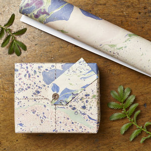 Two Pk Marbled Meadow Gift Wrap Set - shop by category