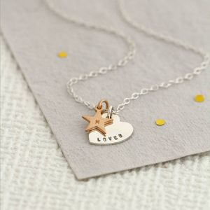 Personalisation Love And Star Necklace - whatsnew
