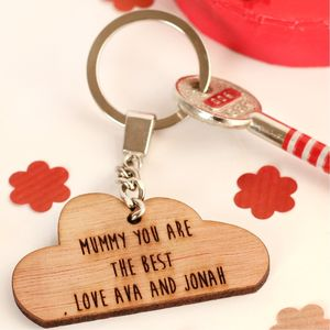 Personalised In Your Own Words Cloud Keyring