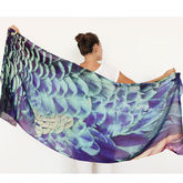 Peacock Cashmere Printed Shawl Scarf - mother's day
