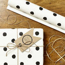 Two Pk Painted Polka Dot Wrap Set