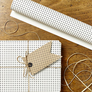 Two Pk Mini Polka Dot Wrap Set - wrapping paper