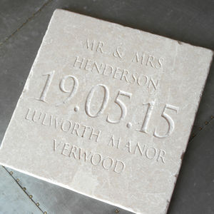 Personalised Large Wedding Date Tile