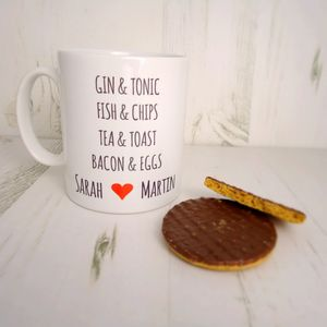 Couples Valentine Personalised Mug - crockery & chinaware
