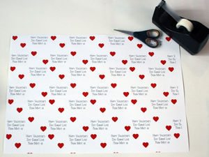 Personalised Hearts Wrapping Paper