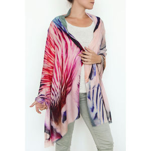 Duck Cashmere Printed Shawl Scarf - hats, scarves & gloves