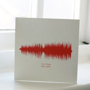 Song Sound Wave Cards With 50 Songs