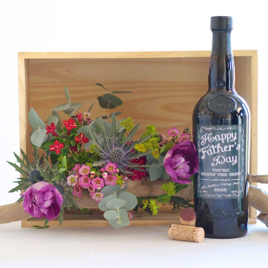 Personalised Late Bottle Vintage Port Father's Day