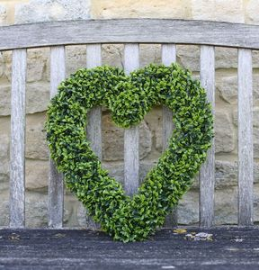 Artificial Topiary / Boxwood Hanging Heart - outdoor decorations