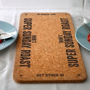 Personalised Cork Table Runner - dining room