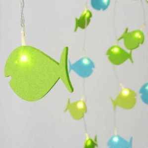 Battery Felt Fish String Lights