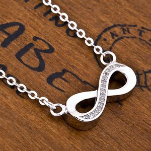 Crystal Bow Silver Neckalce - necklaces & pendants