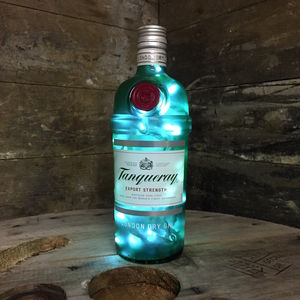 Upcycled Tanqueray Gin Bottle Lamp - bedside lamps